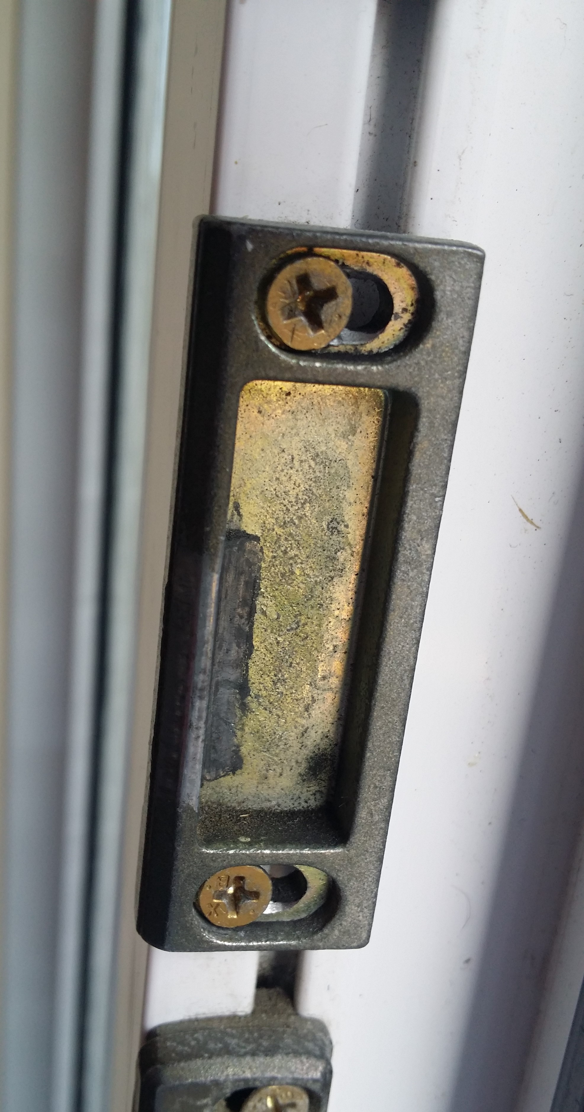 gold_UPVC_door_keep_with_two_screws